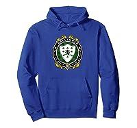 Gallagher O Gallagher Irish Badge W Irish National Tartan T Shirt Hoodie Royal Blue