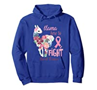 Floral Breast Cancer Awareness Month Here To Fight T Shirt Hoodie Royal Blue