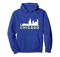 Chicago Illinois Skyline Gift City Skyline T Shirt Hoodie Royal Blue