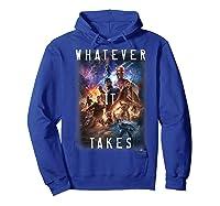 Marvel Avengers Endgame Movie Poster Whatever It Takes T-shirt Hoodie Royal Blue