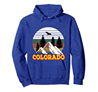 Vintage Outdoor Lovers Colorado Mountains Retro T-shirt Hoodie Royal Blue