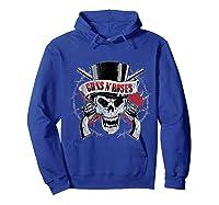 Guns N' Roses Top Hat Skull T-shirt Hoodie Royal Blue