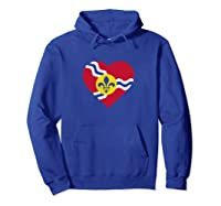 I Heart St. Louis Distressed Stl State Flag T-shirt Hoodie Royal Blue