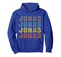 Jonas First Given Name Pride Funny T Shirt Hoodie Royal Blue