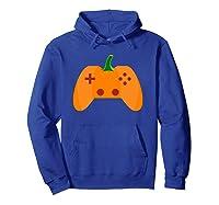 Halloween Video Game Pumpkin Funny Costume Gamer Shirts Hoodie Royal Blue