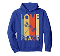 Love Peace Dragonfly Hippie Funny Shirts Hoodie Royal Blue