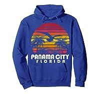 Vintage Retro Pa City Fl Florida Sunset Distressed Style T Shirt Hoodie Royal Blue