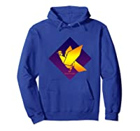 Peace Dove Bird Purple Blue Origami Majesty Shirts Hoodie Royal Blue