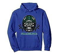 Philadelphia Football Helmet Sugar Skull Day Of The Dead T Shirt Hoodie Royal Blue