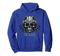 Dallas Football Helmet Sugar Skull Day Of The Dead T Shirt Hoodie Royal Blue