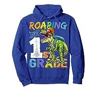 Roaring 1st Grade Dinosaur Back To School Backpack Shirt Boy Hoodie Royal Blue