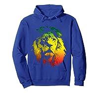 Lion Rasta Colors Rastafari Pride Reggae Inspired Shirts Hoodie Royal Blue