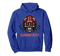 Kansas City Football Helmet Sugar Skull Day Of The Dead T Shirt Hoodie Royal Blue