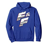 Fast Furious Red Outline Steel Logo Pullover Shirts Hoodie Royal Blue