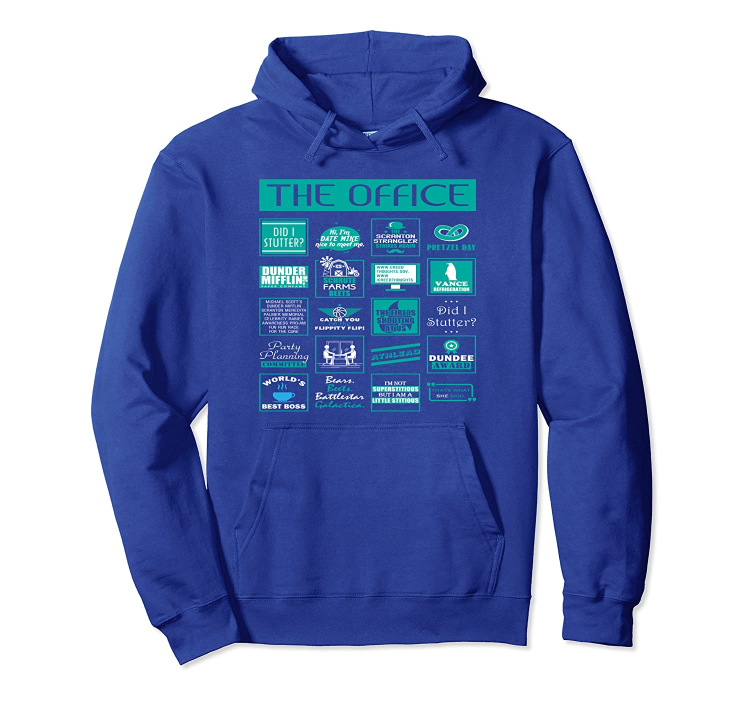 Official Hoodies The Office Quote Mash-Up-TH