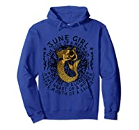 June Girl The Soul Of A Mermaid Tshirt Funny Gifts T Shirt Hoodie Royal Blue