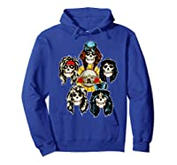 Guns N' Roses Skull Heads Shirts Hoodie Royal Blue