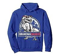 Grandmasaurus T Rex Grandma Saurus Dinosaur Grandmom Shirts Hoodie Royal Blue