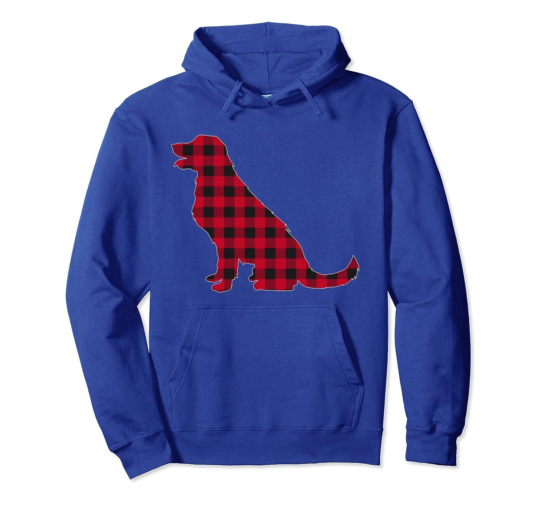 Red Plaid Labrador Retriever Dog Lover Christmas Pajama Pullover Hoodie