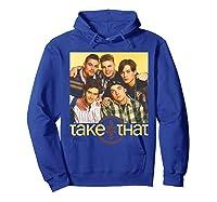Take That Retro 90's Boyband Group Shot Shirts Hoodie Royal Blue