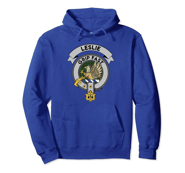 Leslie Clan Badge Scottish Tartan Pullover Hoodie
