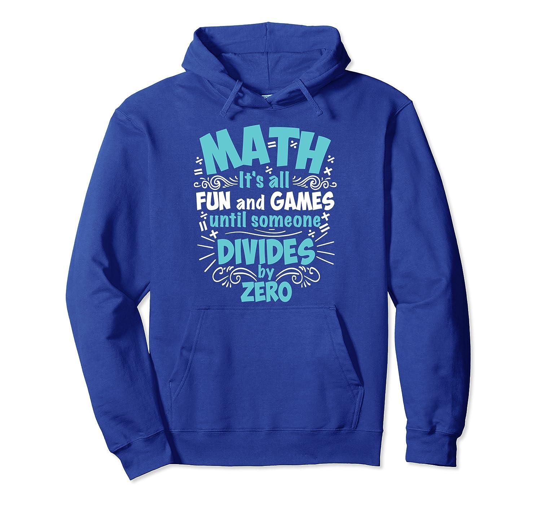 Cute Math It's All Fun  Funny Mathematicians Teacher Gift Pullover Hoodie-Awarplus