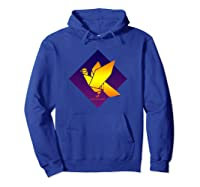 Peace Dove Bird Purple Blue Origami Majesty Pullover Shirts Hoodie Royal Blue