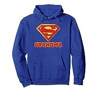 Superman Super Grandma Pullover Shirts Hoodie Royal Blue