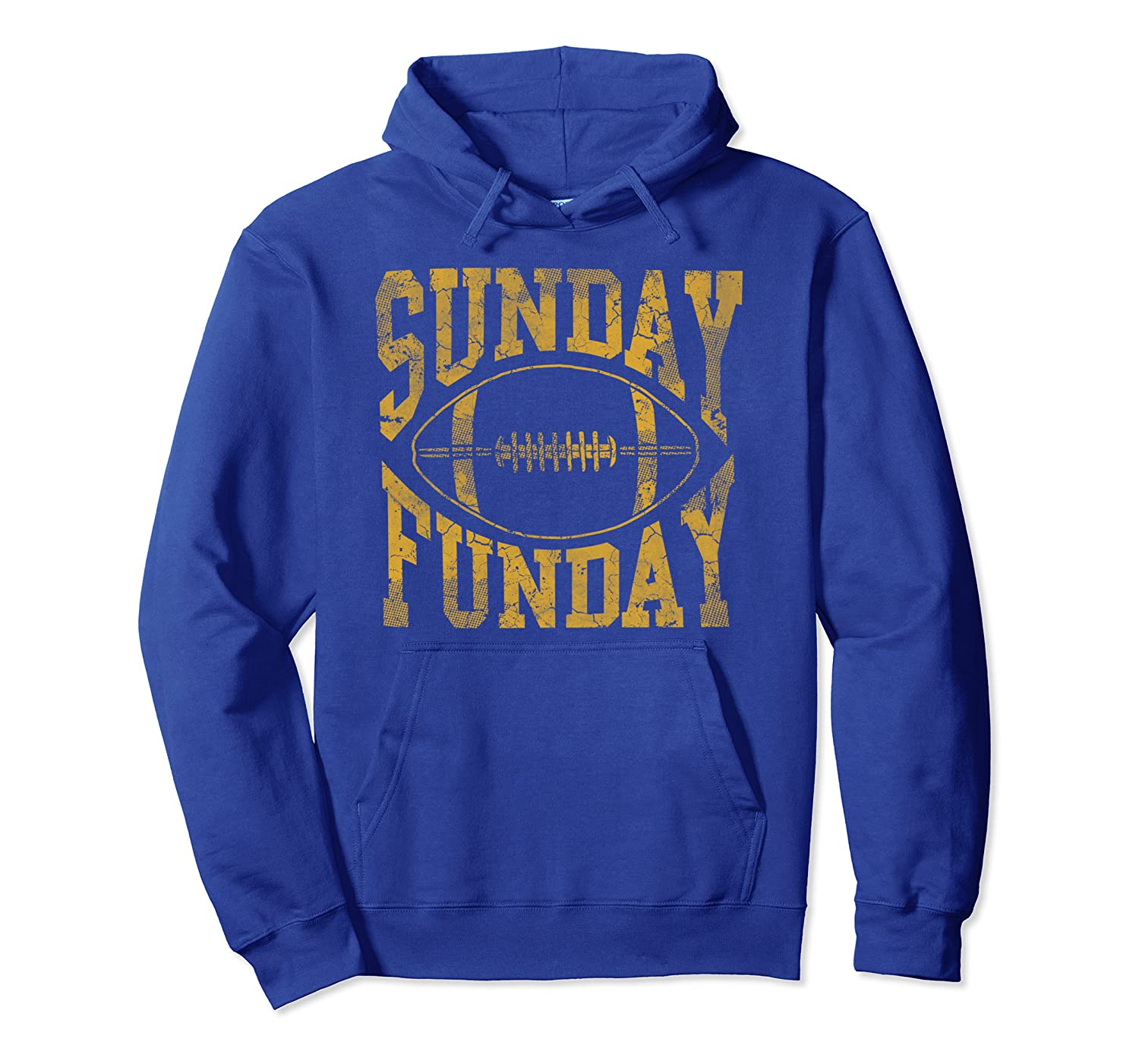 Vintage Yellow Sunday Funday Football Hoodie Men Women Pullover Hoodie-TH