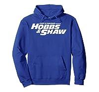 Fast Furious Hobbs Shaw All Movie Logo Pullover Shirts Hoodie Royal Blue