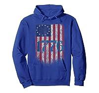 Betsy Ross Shirt 4th Of July American Flag Tshirt 1776 Hoodie Royal Blue