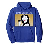 Disney Mulan Living My Best Life T-shirt Hoodie Royal Blue