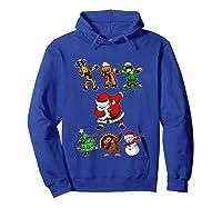Dabbing Santa Friends Christmas Girls Xmas Gifts Shirts Hoodie Royal Blue