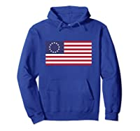 Betsy Ross Flag   1776 American Flag Pullover Shirts Hoodie Royal Blue