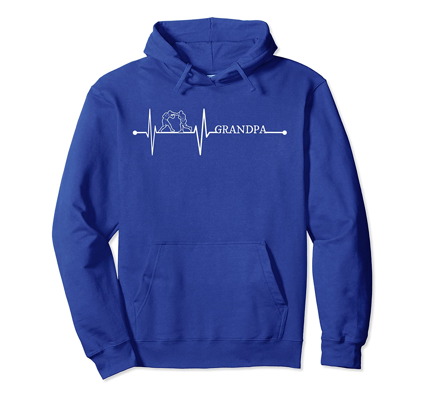 Boxing Grandpa Boxer Heartbeat Gift EKG Martial Art Lover Pullover Hoodie