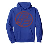 Fast Furious Red Logo Outline Circle Logo Pullover Shirts Hoodie Royal Blue