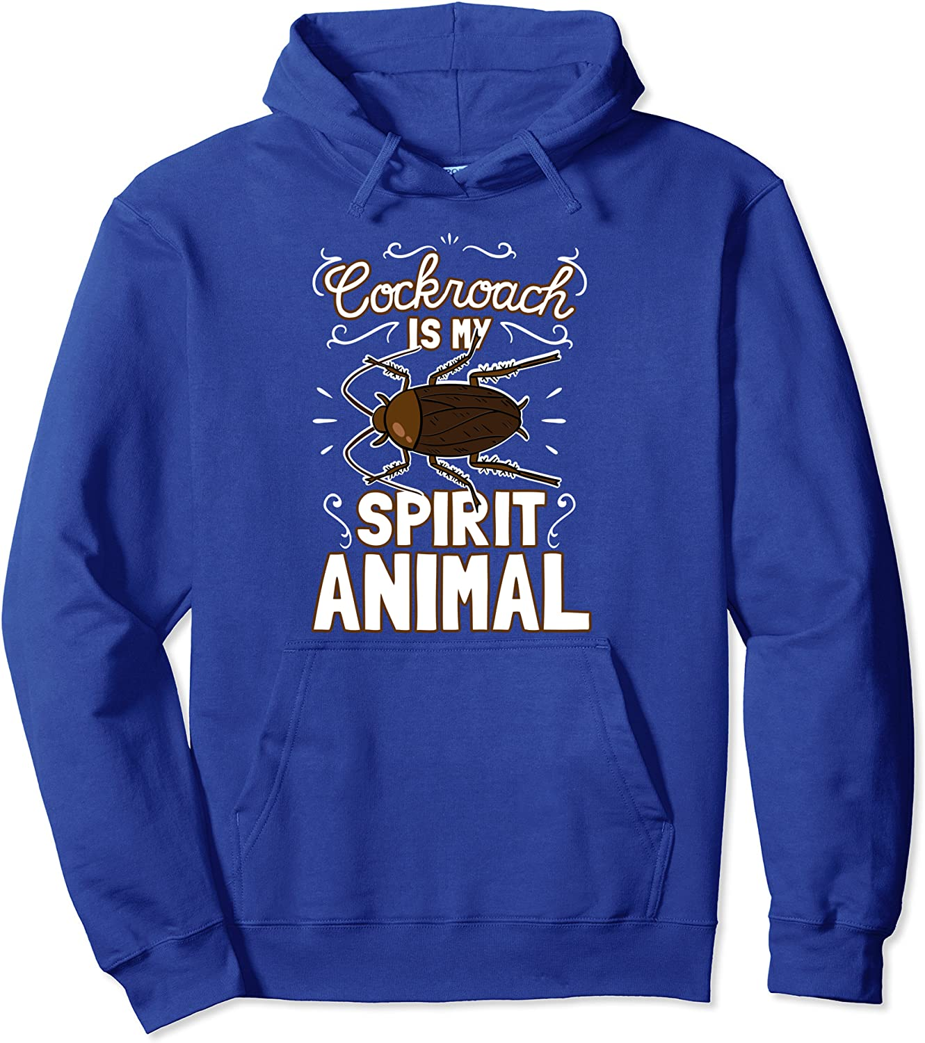 Entomology Design For Insect Fans - Cockroach Spirit Animal Pullover Hoodie-TH