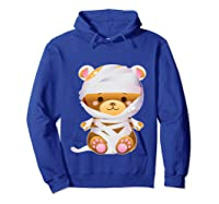 Mummy Bear Halloween Out Costume Party Gifts Pullover Shirts Hoodie Royal Blue
