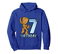 Guardians Of The Galaxy Baby Groot 7th Birthday Shirts Hoodie Royal Blue