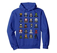 Friends Cartoon Halloween Character Scary Horror Movies Shirts Hoodie Royal Blue