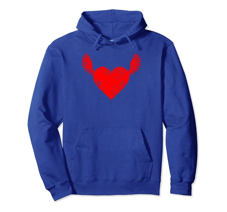 Wings Heart Vintage Romantic Valentine's Day Gift Tee Pullover Hoodie-Yolotee