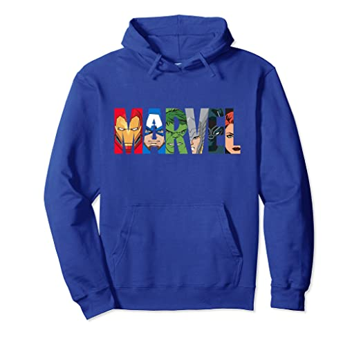 Marvel Logo Avengers Super Heroes Hooded Sweatshirt