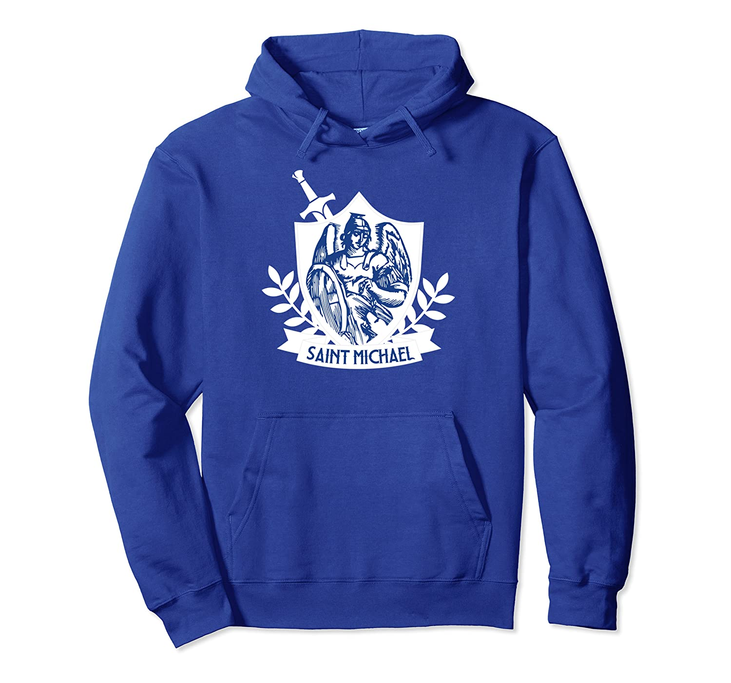 St. Michael the Archangel Patron Saint of Police Officers Pullover Hoodie