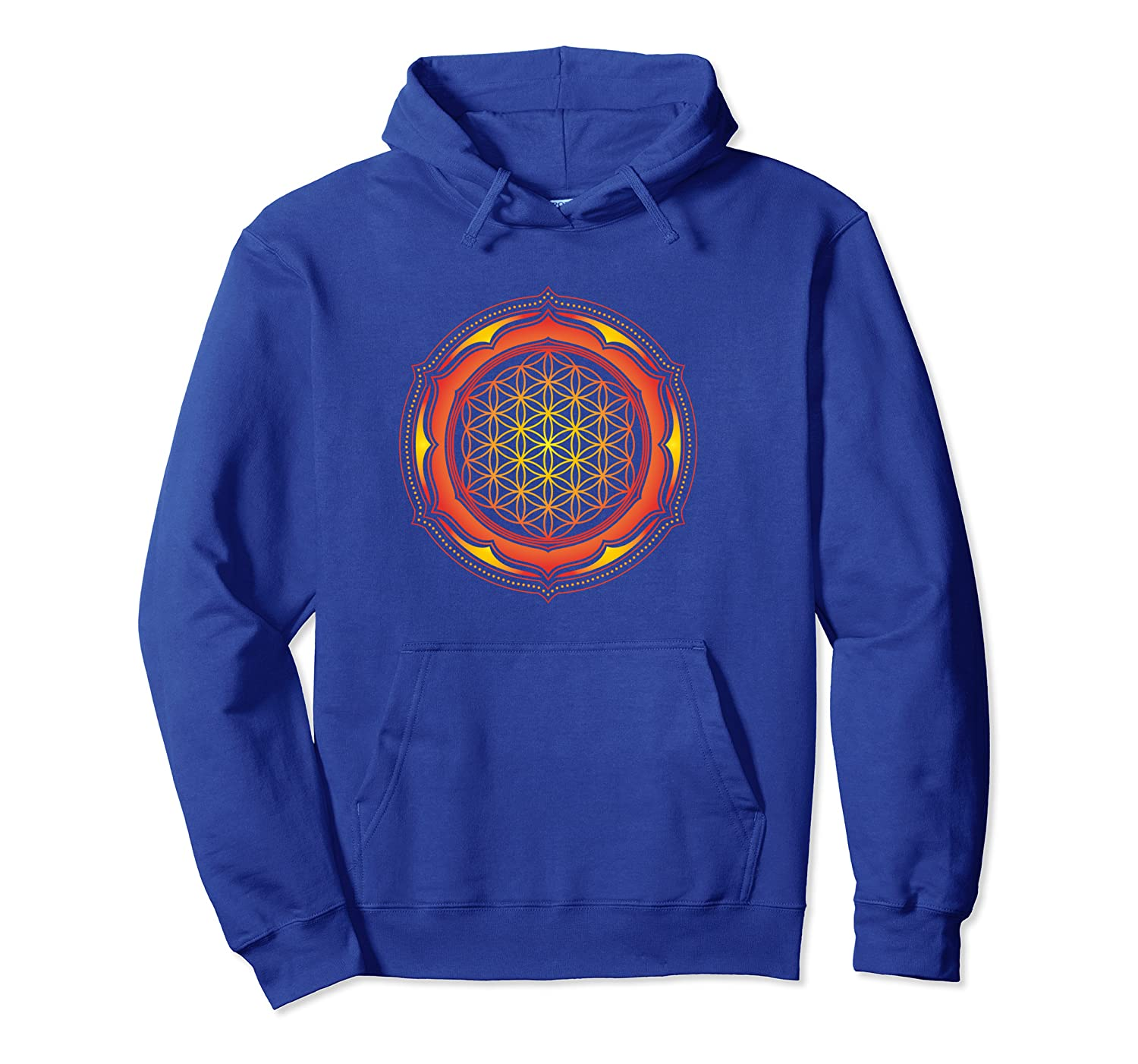 Flower of Life Sacred Geometrie Yoga Balance Harmony Symbol Pullover Hoodie-TH