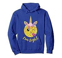 8th Birthday Emoticon Shirt Unicorn 8 Year Girl Sweet Face T-shirt Hoodie Royal Blue