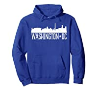 Washington Dc T Shirt Cities Skyline Silhouette Tee Hoodie Royal Blue