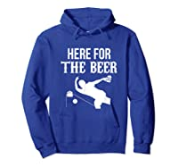 Here For The Beer Bowling For Bowlers Shirts Hoodie Royal Blue