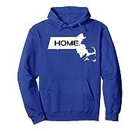 Home Massachusetts Shirts Hoodie Royal Blue
