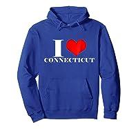 Love Connecticut , Heart Connecticut Usa Shirts Hoodie Royal Blue