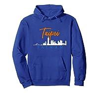 Taipei Skyline Taiwan T Shirt Hoodie Royal Blue